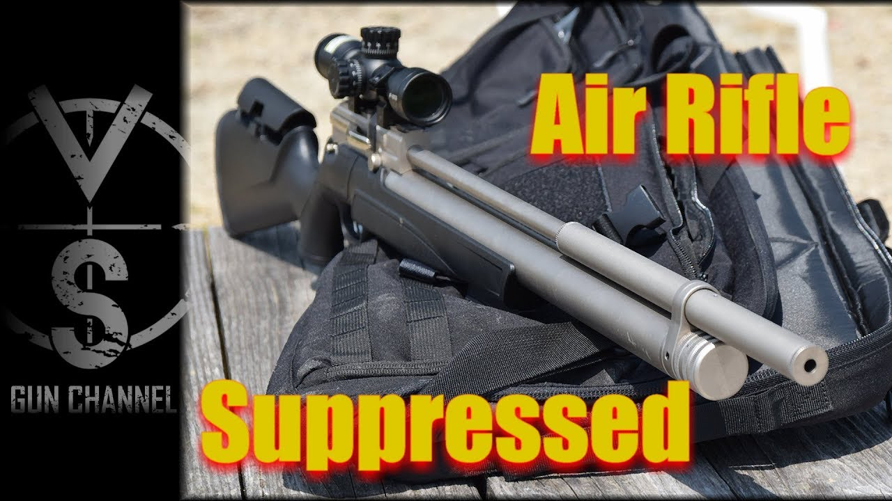Integrally Suppressed Air rifle VS Real Silencer
