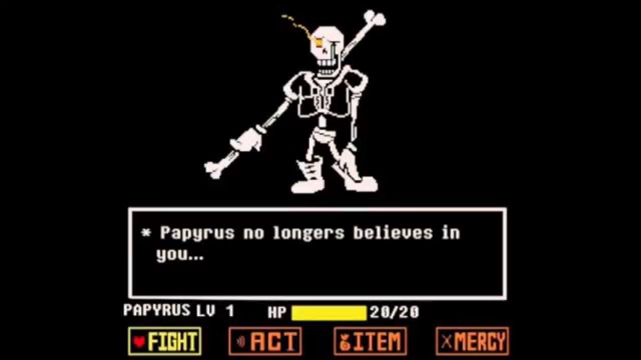 undertale papyrus fight