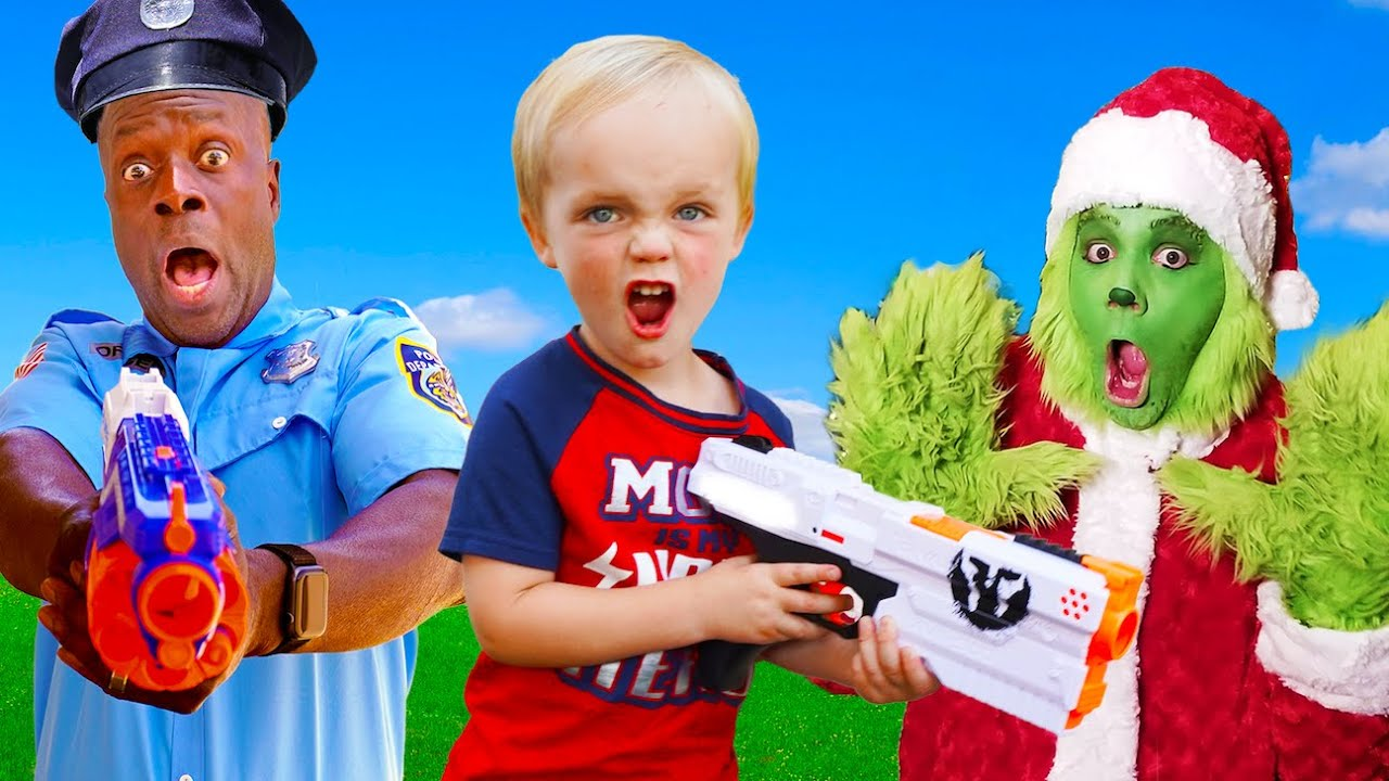 Kids Fun TV! Baby VS Police Officer VS Grinch Compilation Video