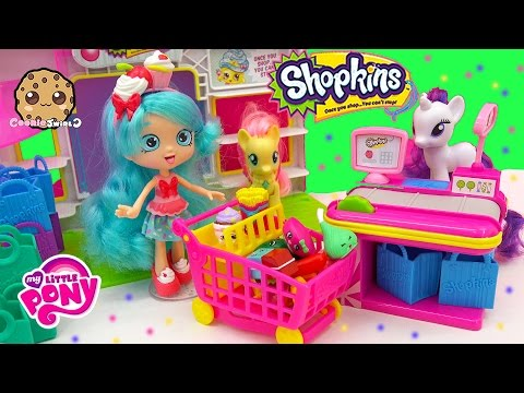 Shopkins Shoppies Doll Jessicake Season 3 12 Pack Shopping At Small Mart  With My Little Pony