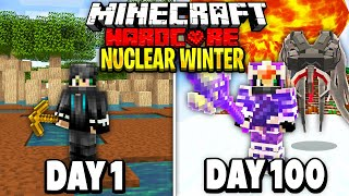 I Survived 100 Days of Hardcore Minecraft in a Nuclear Winter.. Here's What Happened..