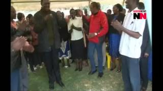 RAW VIDEO! Uhuru and son walk from State House for dance next door