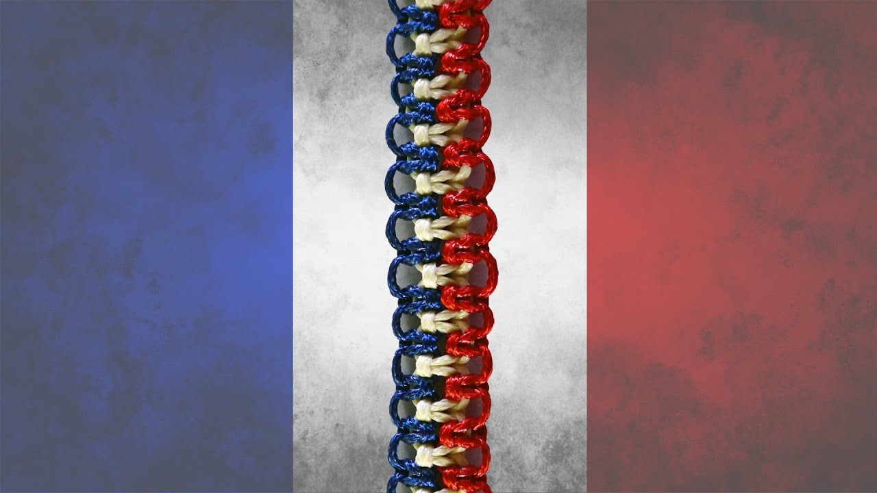 Easy Friendship Bracelet In The Colors Of French Flag Diy