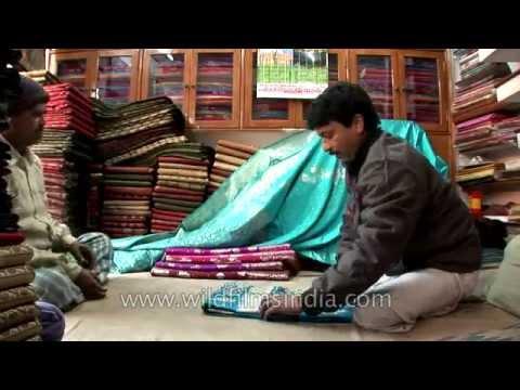 Banarasi saree shop at Varanasi, Uttar Pradesh