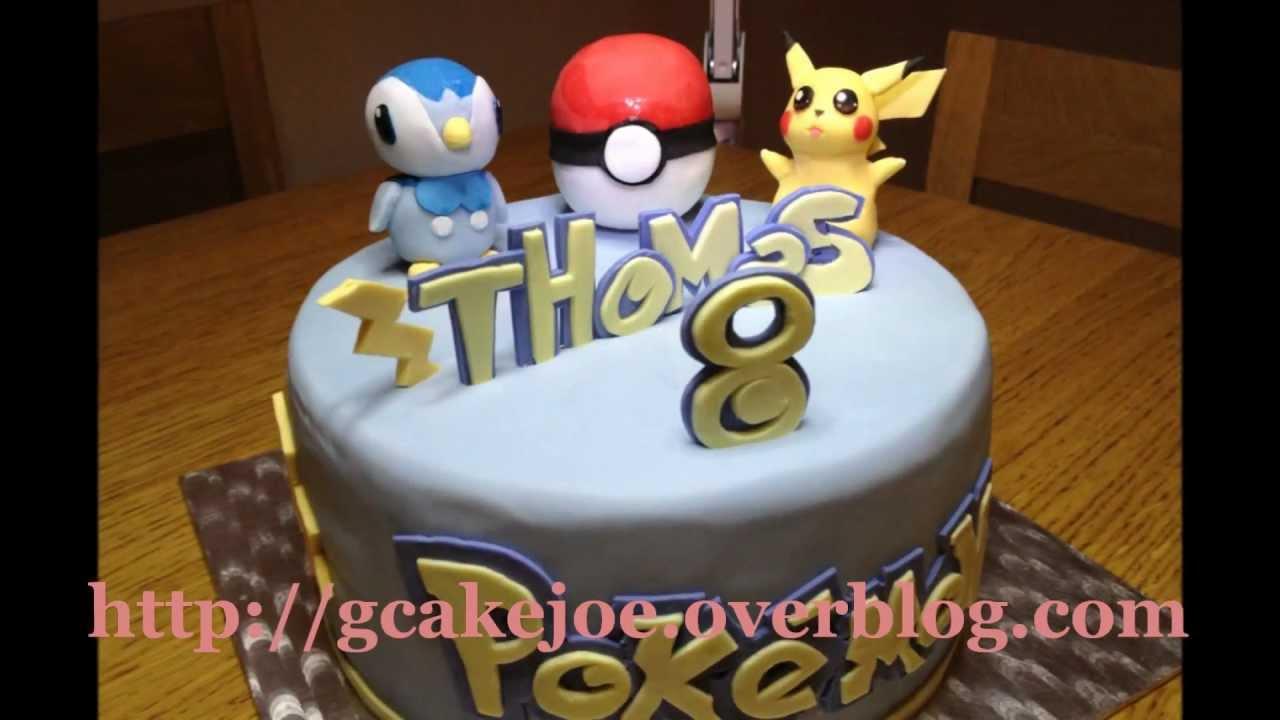 Fabuleux Pokemon Pikachu & Tiplouf gateau 3D - YouTube NF23