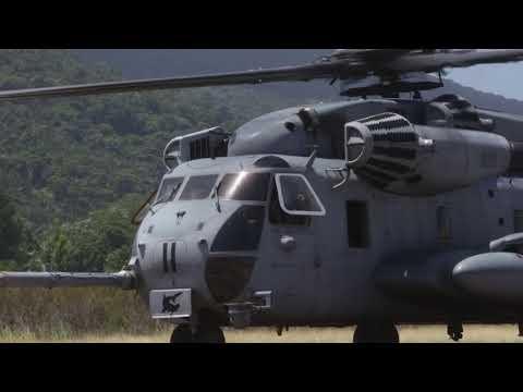 B-Roll- SPMAGTF-SC helicopters land in Trujillo