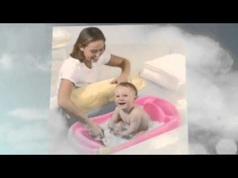 The First Year\'s Infant To Toddler Tub with Sling, Blue - YouTube