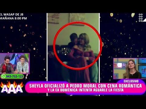 SHEYLA OFICIALIZÓ A PEDRO MORAL CON CENA ROMANTICA Y DOMENICA LES QUIERE AGUAR LA FIESTA