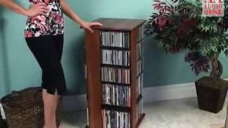 Audio Advisor Review -  576 Hardwood Swiveling Storage Rack