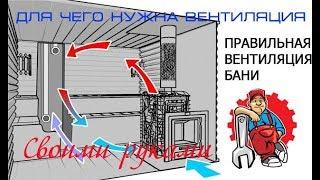 Для чего нужна естественная вентиляция в бане. Как построить баню.