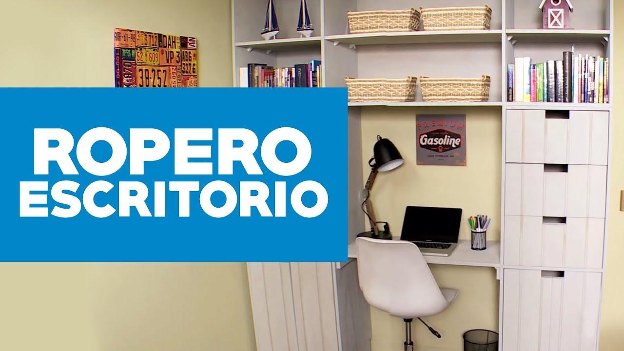 C mo hacer un ropero escritorio infantil para dormitorio youtube for Escritorio infantil