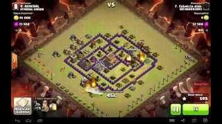 Clash of Clans - Ataque 3 estrelas CV8 - Ataque Dragões LVL 3