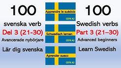 Lär dig svenska - 100 svenska verb - del 3