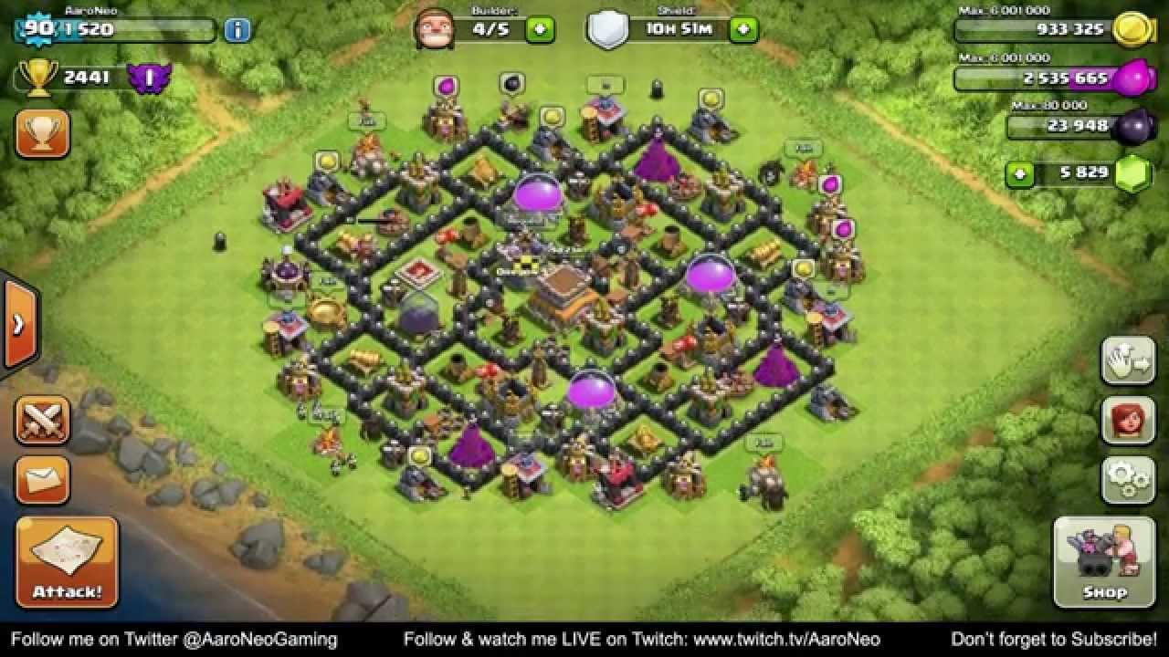 Base Coc Th 8 Max 1
