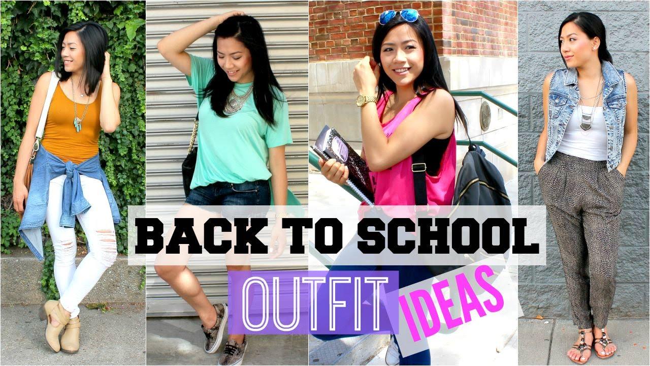 CUTE u0026 EASY BACK TO SCHOOL OUTFIT IDEAS 2015 - School Fashion Lookbook | MISS YANYI - YouTube