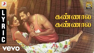 Listen to Kannala Kannala from Thani Oruvan in Hiphop Tamizha's music and lyrics. Sung by Kaushik Krish & Padmalatha, the song about love and longing.