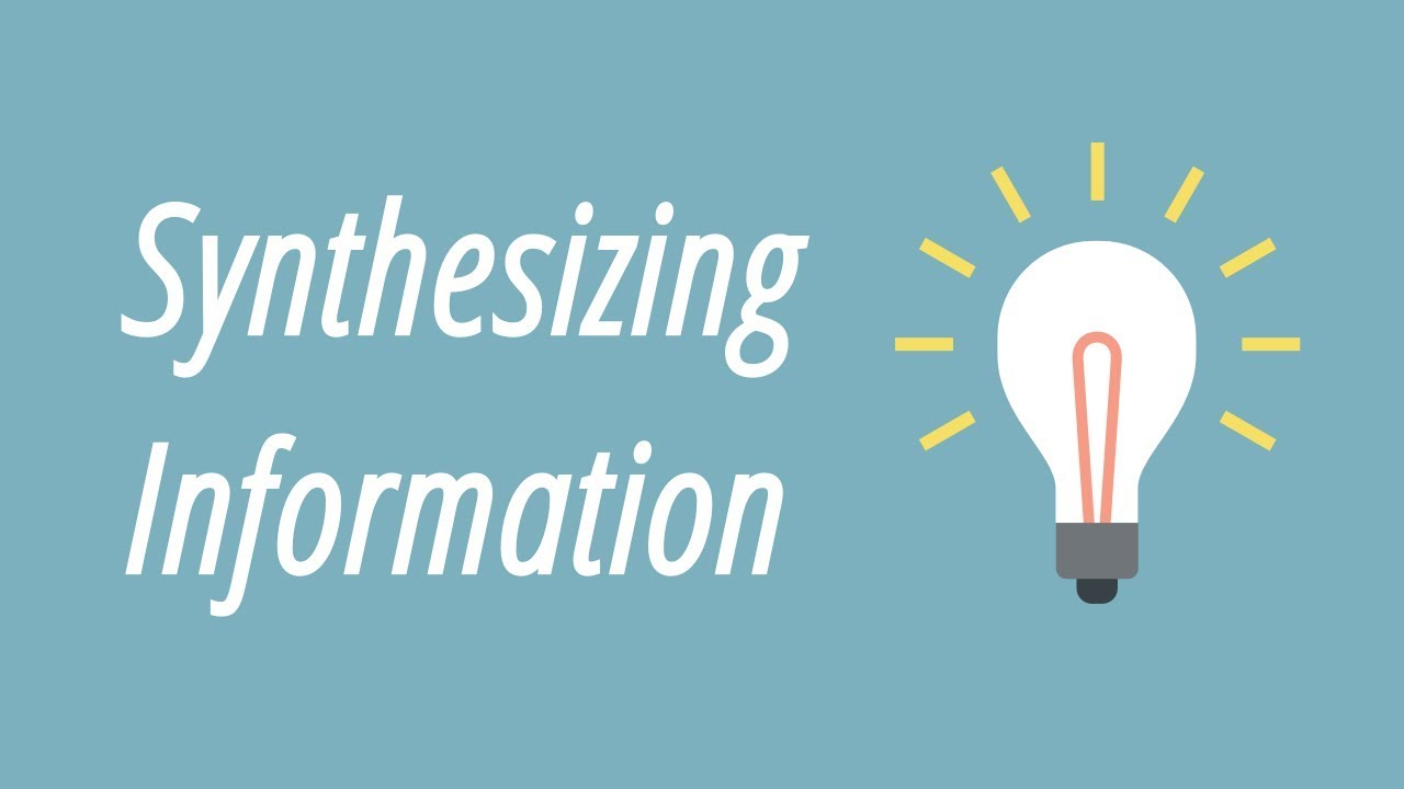 small resolution of Synthesizing Information - YouTube