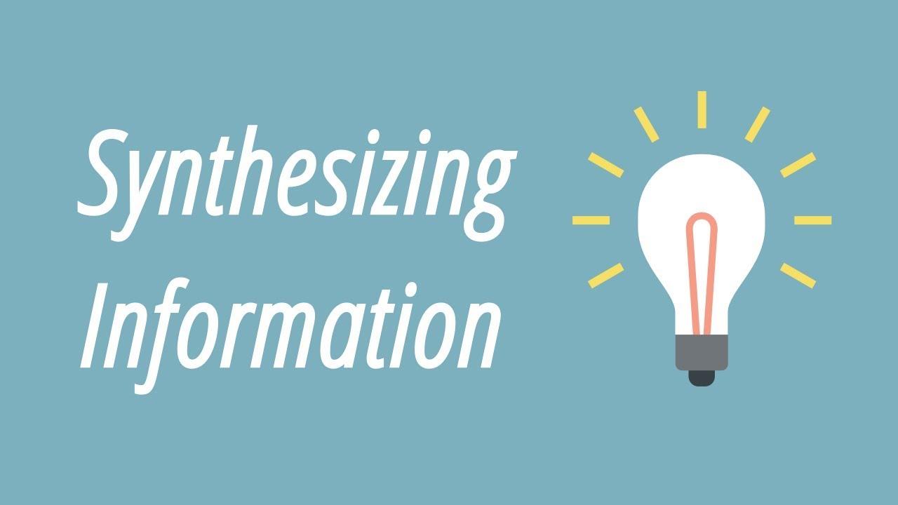 hight resolution of Synthesizing Information - YouTube