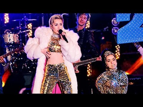 Miley Cyrus Performance At New Year's Eve With Ryan Seacrest