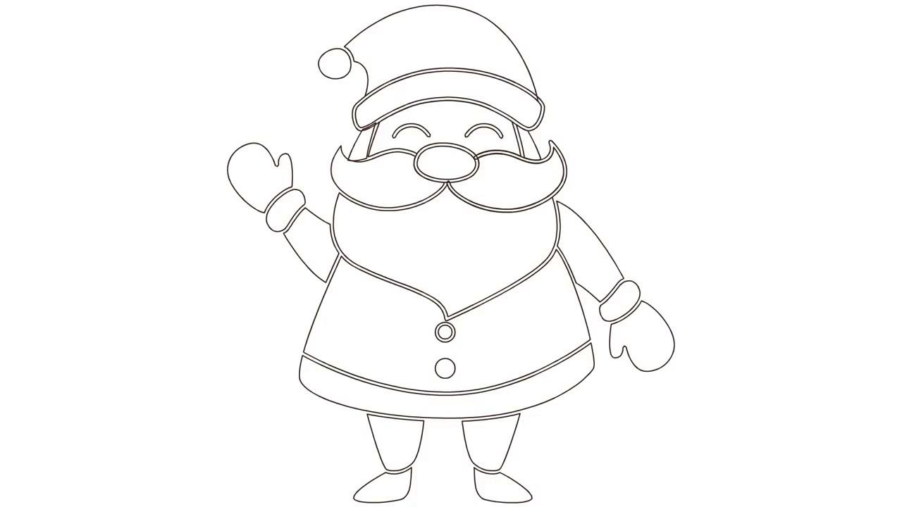 Noel Baba Nasil Cizilir Boyama Sayfasi Youtube