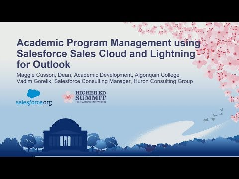 Academic Program Management with Sales Cloud and Lightning for Outlook