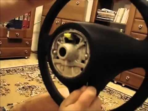 как снять рулевое колесо (steering wheel) на BMW