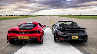 DRAG RACE!! 488 PISTA vs 800 BHP 911 TURBO S