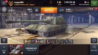 รีวิว & Gameplay WOT Blitz - Jagdpanzer E 100(เจอเกรียน)(ไทย)