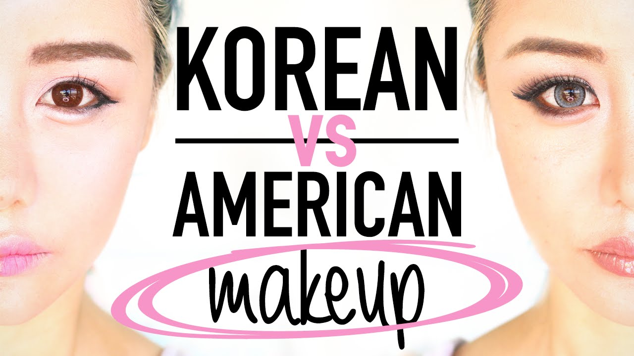 Korean Makeup Vs American Makeup Before And After Transformation Tutorial  Routine ™� Wengie  Youtube