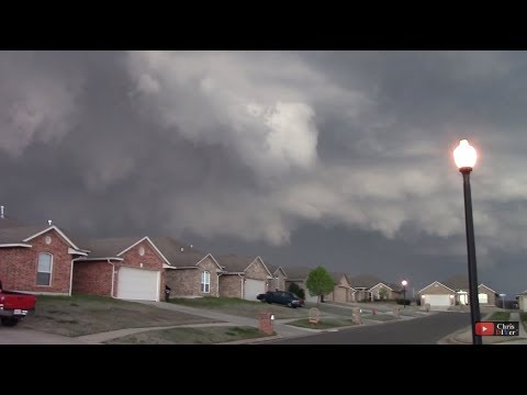 EF2 tornado blowing into Moore, OK (my subdivision). Siren going off/helicopter spotters in the air