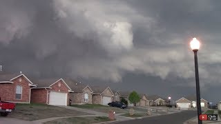 EF2 tornado blowing into Moore, OK (my subdivision). Siren going off/helicopter spotters in the air thumbnail