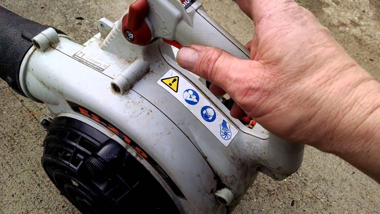 echo es 210 leaf blower scrap pile fix youtube rh youtube com