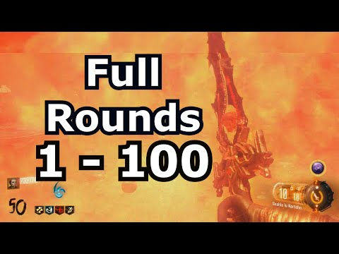 Full Rounds 1 - 100 Shadows of evil (after patch)
