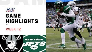 Raiders vs. Jets Week 12 Highlights | NFL 2019