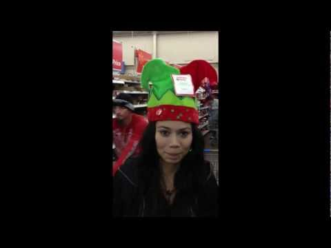 s34n and JOKR try out some Musical Christmas Hats at Walmart!