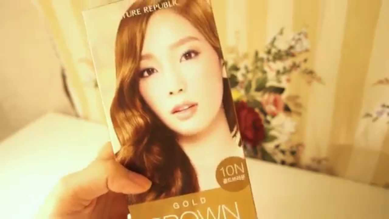 Nature Republic Gold Brown Hair Color Cream Hair Dye Review