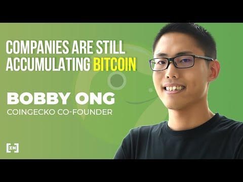 Le co-fondateur de CoinGecko, Bobby Ong, déclare qu'il y a beaucoup plus d'entreprises qui accumulent encore du Bitcoin