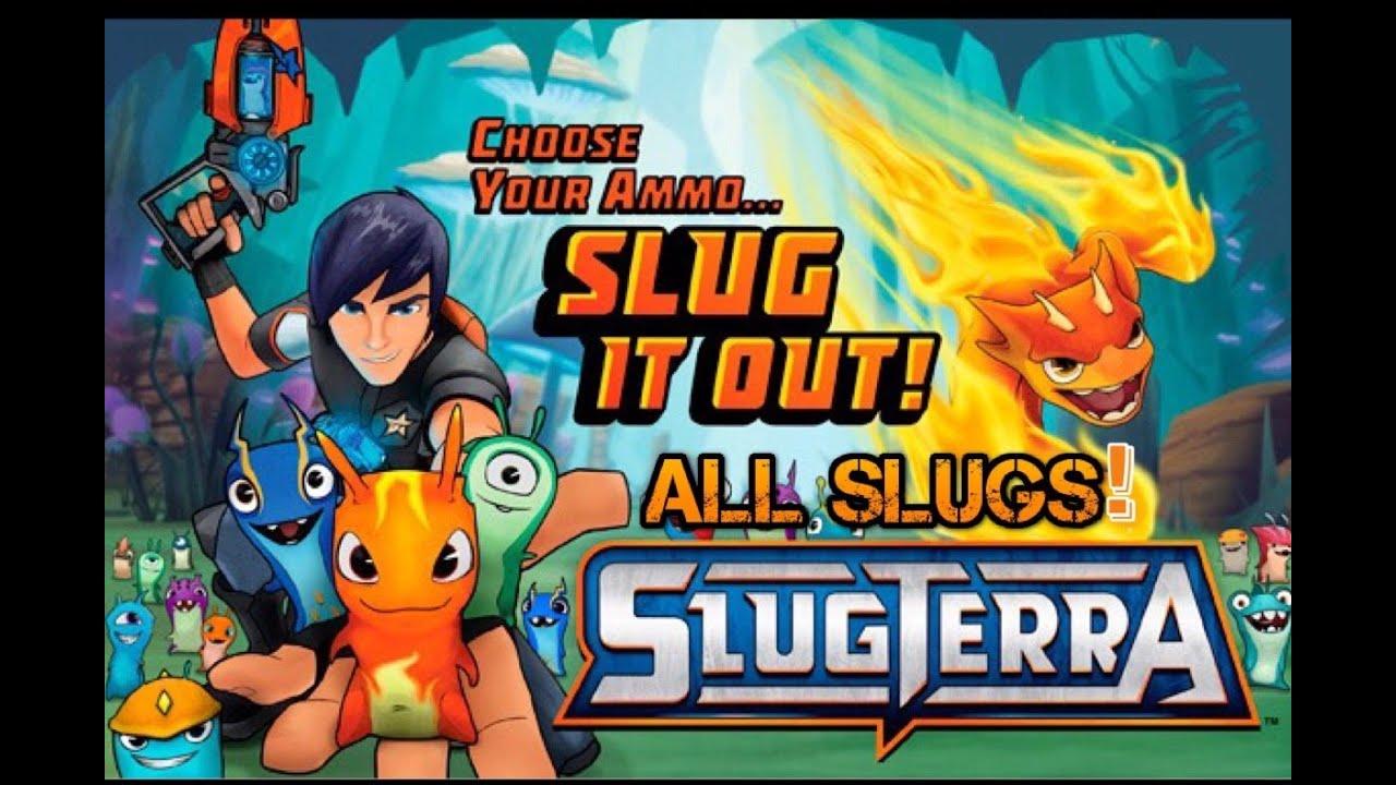 Slugterra (Slug it out) All non rare slugs! - YouTube