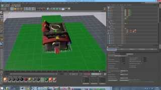 clash of clans town hall lev 10 3D model for cinema 4D
