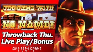 The Game with No Name Slot - TBT Live Play, 2 Free Spins Bonuses(Throwback Thursday live play of