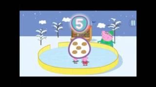 Мультфильм свинка Пеппа на катке. Учим цифры с Пеппой. to count to 10. Cartoon Peppa Pig.