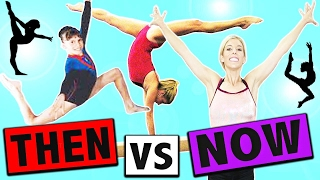 TRYING GYMNASTICS THEN VS NOW!! | Rebecca Zamolo