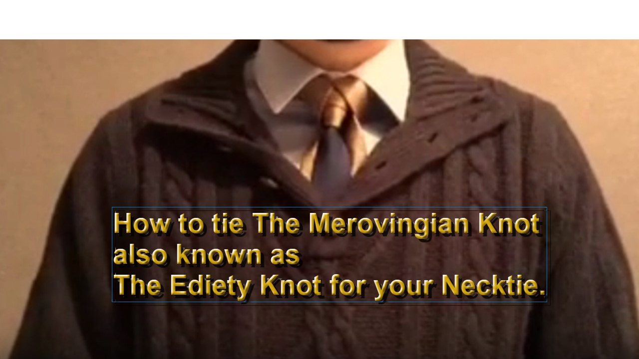 How to tie the merovingian knot for your necktie also known has the how to tie the merovingian knot for your necktie also known has the ediety knot ccuart Image collections