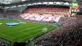 Гимн России на #КазаньАрена Перфоманс от фанатов России #MEXRUS Мексика vs Россия 2:1