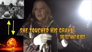 "SHE FELL AFTER TOUCHING A TOMBSTONE ""HEARD A BOMB""!!"