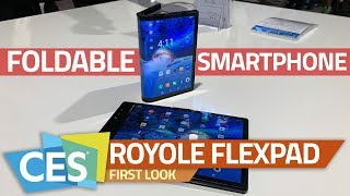 Royole FlexPai Foldable Smartphone First Look | a Smartphone and Tablet on the Same Device