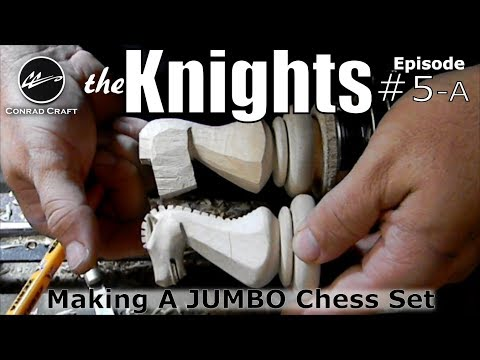 Making a Giant Chess Set episode 5A: Carving a Knight. Conrad Craft