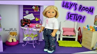American Girl Doll ~ Setting Up Lily's Bedroom Tour ~ By Request ~ Doll House Tour