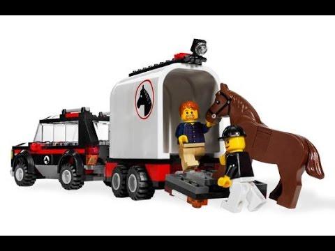 lego city 4x4 con remolque para caballos lego juguetes infantiles youtube. Black Bedroom Furniture Sets. Home Design Ideas
