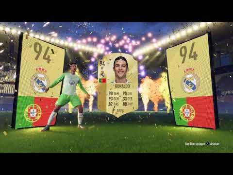 Ronaldo im Pack+Reaktion Fifa18